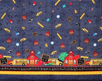 Vintage Schoolhouse Border Fabric - 3 PCS