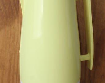 Vintage Aladdin Beverage Butler Quart Vacuum Pitcher Lemon Yellow Nashville TN Made in USA Excellent Condition Super Clean