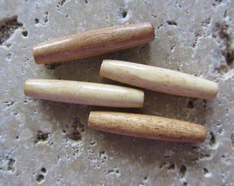 Bone Tube Beads 10 beads
