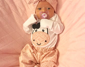 Baby Clothes - Hippie Baby Clothes - Cute Baby Girl Clothes - Cute Baby Clothes - Trendy Clothes - Kids Clothes - Toddler Clothes - Cow