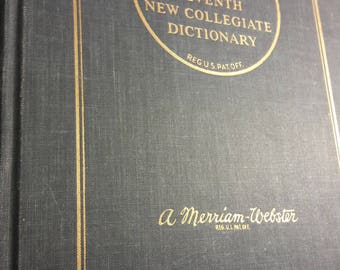 1970 Webster's Dictionary - New Collegiate - Collectible Vintage Dictionaries - 1970's - Old Books for Decoration - Decorating - 70s Antique