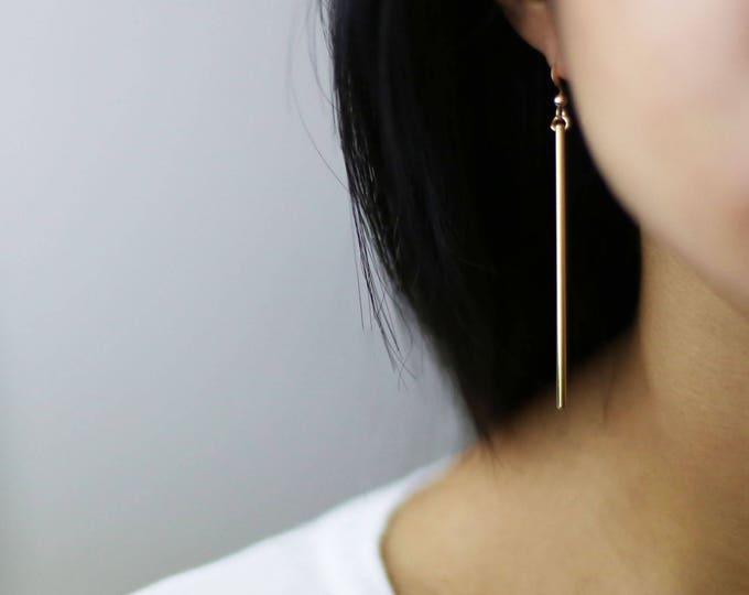 Long Stick Drop Earring // Drop Dangle Earrings