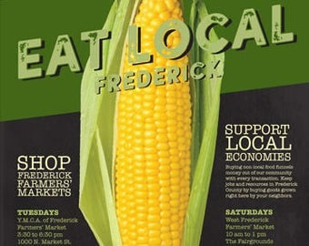 Eat Local Frederick Poster: Corn 18x24