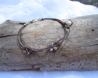 Leather Tri-Strand Bracelet