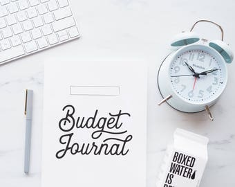 Printable Budget Journal •  PDF • Letter Size • 17 Pages • Bullet Journal • Infinite Prints, Infinite Possibilities