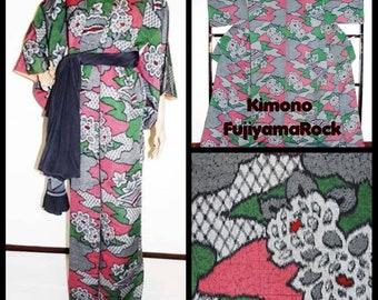 Japanese Kimono, Kimono, Kimono Vintage, Kimono Robe, Kimono Dress, Floral kimono, Kimono Dressing Gown, Kimono Fabric, Japanese Robe,