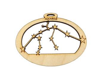 Aquarius Constellation Ornament - Personalized Free