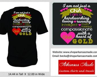 I'm Not Just A CNA custom shirt, cna shirt, certified nursing assistant, student graduation gift, cna gift, to 4x