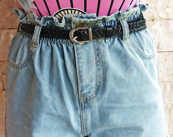 "Handmade Leather Braided Belt / Black, Gold, Pink Color/ ""ZOE"" Belt / Adjustable Women Belts / Leather Accessories /"