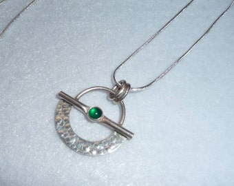 Pendant. Sterling Silver and Stone. Finland. Vintage.
