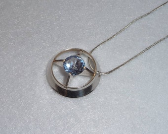 Pendant. Silver and Crystal. Finland. Vintage.
