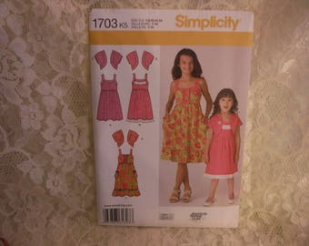 girls dress pattern with bolero