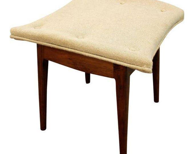 Mid-Century Ottoman Danish Modern Kipp Stewart Drexel Declaration Footstool/Ottoman