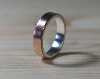 6mm Copper Wedding Ring. Mens Copper Wedding Band. Unisex Copper Wedding ring. Mens Copper ring. 6mm Mens Copper Wedding Band. Copper rings