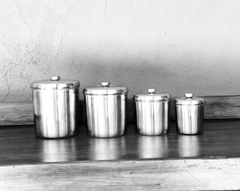 Stainless Steel Cannister Set of 4