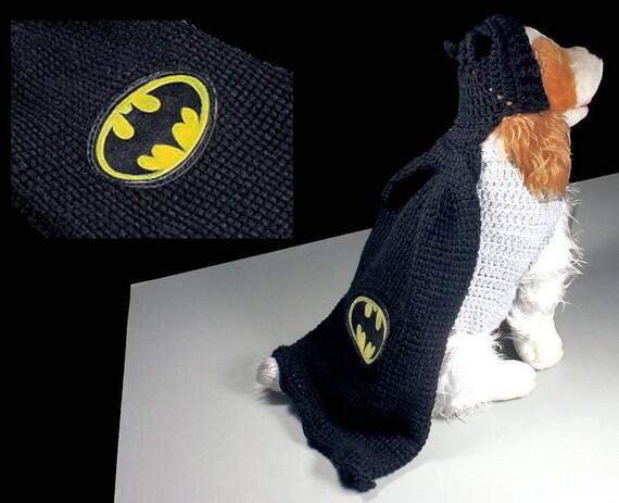 Batman Pet Costume, Halloween Costume, Dog Costume, Cat Costume, Superhero Costume, Crochet, Photo Prop, Fits 10 to 20 lb. Pet