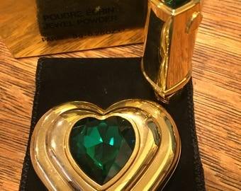 YSL Yves Saint Laurent  Jewel Heart Vintage Compact and Lipstick NIB Collecters Alert