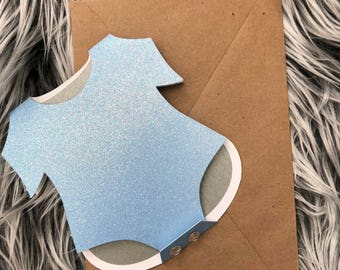 Blue Baby Onesie Card