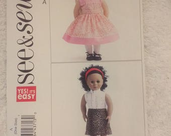 See and Sew Doll Dress pattern