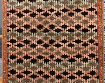 """Moroccan PileTaznakht Rug Carpet - Berber Tribal Art - Handmade - 7'8"""" x 3'9"""" (234cm x 114cm)"""
