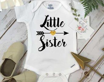 Little Sister Shirt, Baby Sister Onesie®, Sisters Shirts, Little Sister Arrow, Sister Shirt, Family tees, Big Sister Reveal, Gender Reveal