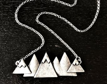 Gunmetal Mountain Necklace - XLarge \\ SGunmetal Jewelry \\ Gunmetal Chain