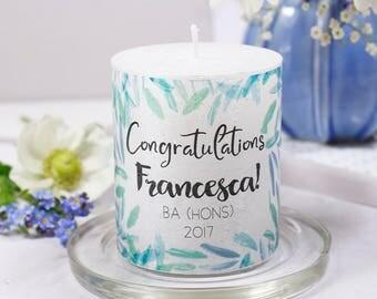 Congratulations Graduation Personalised Candle - Graduation Candle - Graduation Gift - Congratulations gift - Personalised Candle