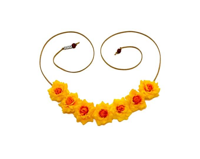 Yellow Rose Flower Crown