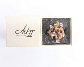 Vintage Act II Fashion Ring with Box Size 8