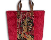 Tapestry Shopper, Canvas Handbag Unicorn : Le Cathy