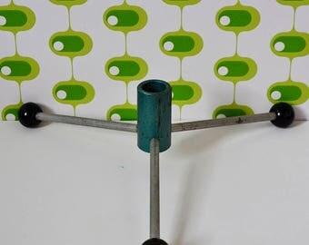 Festive - Vintage - Modernist - Minimalist - Atomic - 1950s - West German - Green - Metallic - Christmas-Tree holder