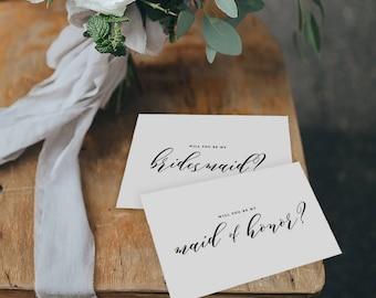 6 x Will You be My Bridesmaid Card, Bridesmaid Proposal, Maid of Honor Card, Will You Be My Maid of Honor, Bridesmaid Card, Bridal Cards,K10