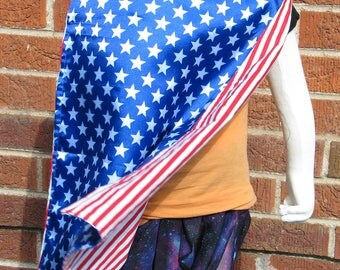 Stars and Stripes Cape, reversible