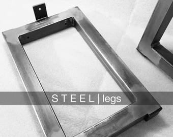 """1.5"""" Square Steel Bench Legs (Set of 2)"""