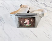 Unicorn Leather Fanny Pack Leather hip Bag Festival Accessories gift for her