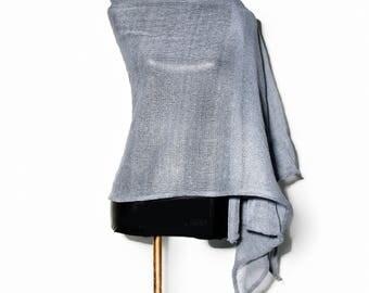 Linen shawl / Clothing gift / Linen wrap / Women scarf / Knit scarf / Linen scarf / Natural linen scarf /  Linen scarves / Linen clothing