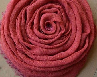 Pink LINEN Scarf, Lightweight Scarf, Summer Scarf