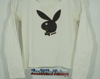 Vintage Playboy Big Bunny Rabbit Head Sweater Size Medium M / playboy shirt / playboy t shirt / vintage plaboy t shirt /
