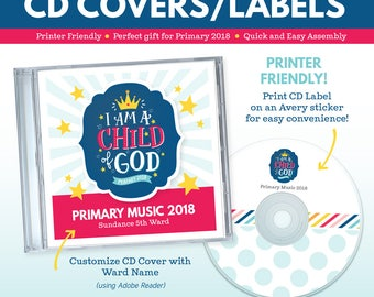 2018 LDS Primary Theme CD Covers and Labels - I am a Child of God