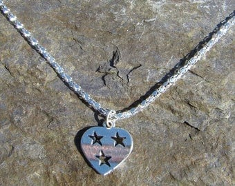 Starry Heart Charm Necklace