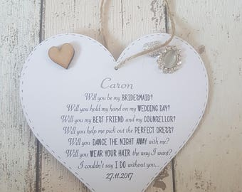 Will You Be My Bridesmaid - Personalised Will You Be My Bridesmaid, Flower Girl, Wedding Gifts, Wedding Items