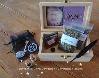 Goddess Hekate / Hecate – Altar - Shrine Box. Goddess of magic, witchcraft, Witches. Beginners Wicca Kit box.