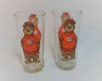 Vintage A & W Bear Rootbeer Tumblers