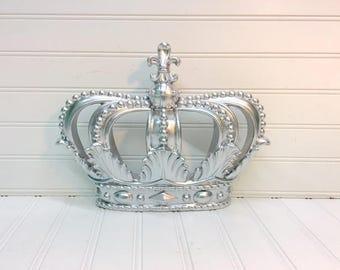 Silver Crown/Crown/Nursery Decor/Shabby Chic/Glam/Teen Room/Wall Decor/Princess/Royal/Crown Wall Decor/Crown Canopy/Queen