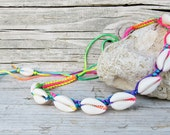 Cowrie Choker, Shell Choker, Multicolor Shell Necklace, Cowrie Shell Necklace, Rainbow Choker, Sea Shell Necklace, Shell Jewelry