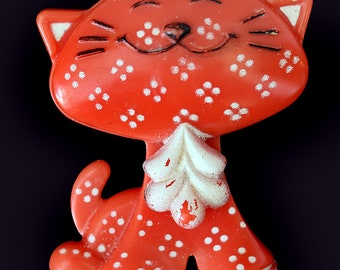 1973 Avon Cat Fragrance Glace Pin