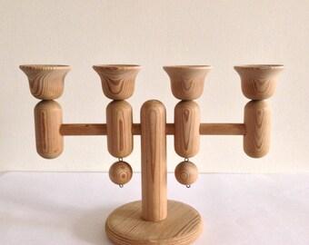 Aarikka Finland Wooden Candle Holder