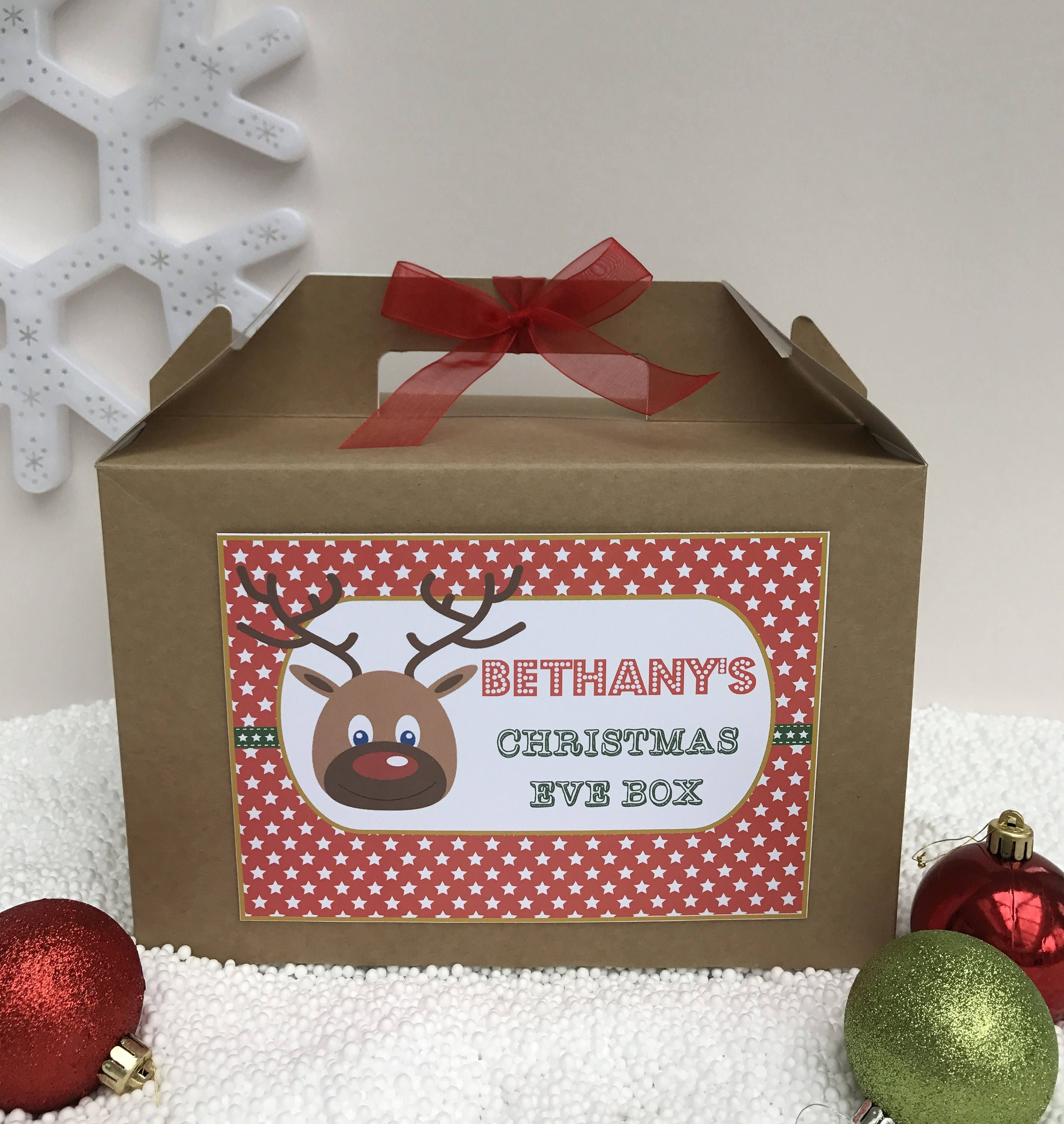 Christmas Eve Box, Personalised Christmas Box, Child's Eve Box ...