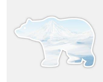 "Save The Polar Bear Watercolor Bumper Sticker Decal 4"""