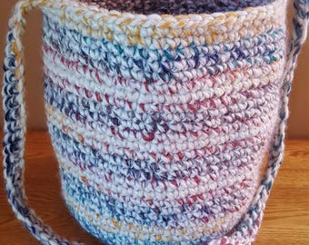 Crocheted Purse, Over the Shoulder, Multicolor